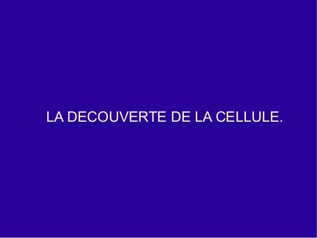 4ºeso Chapitre 1 La Cellule Slide 2