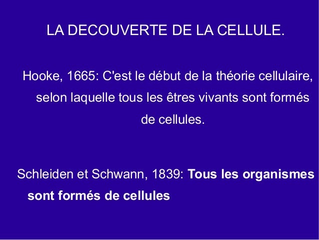 4ºeso Chapitre 1 La Cellule Slide 3