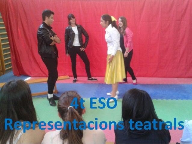 4t ESO Representacions teatrals
