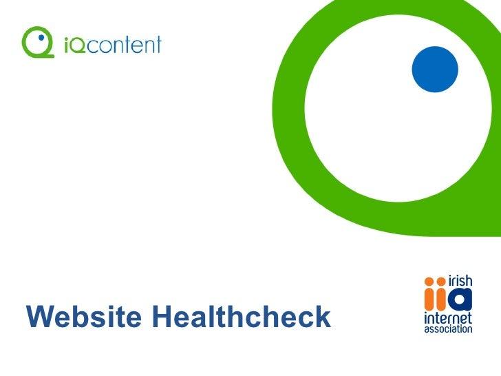 Website Healthcheck
