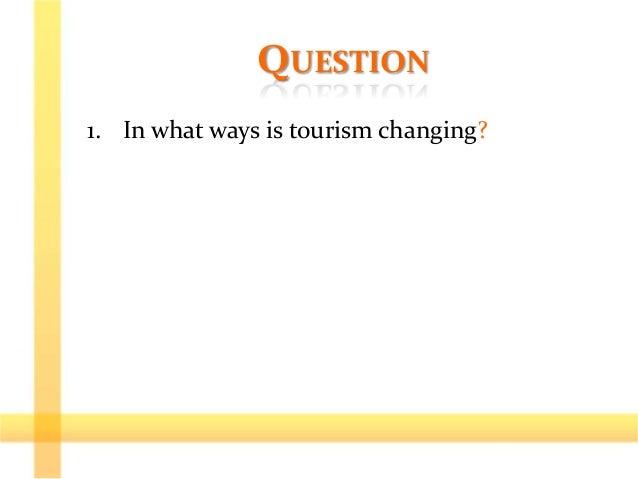 Model essay tourism
