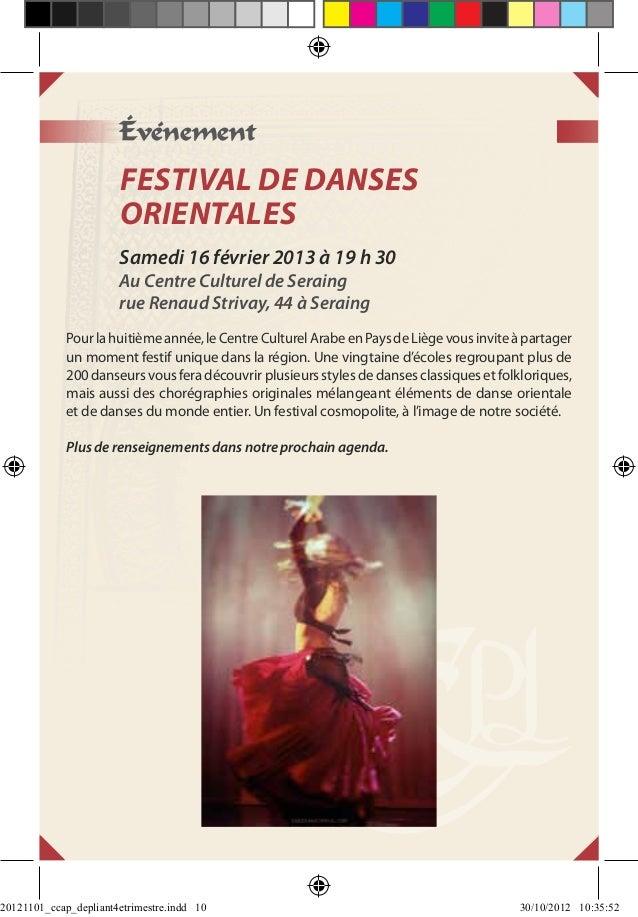 Événement                       FESTIVAL DE DANSES                       ORIENTALES                       Samedi 16 févrie...