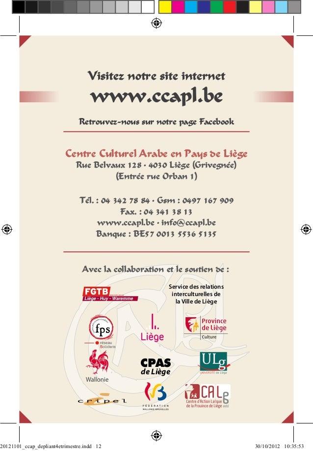 Visitez notre site internet                                    www.ccapl.be                               Retrouvez-nous s...