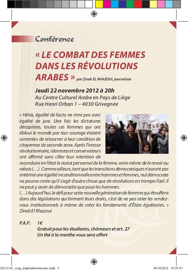 Conférence                        « Le combat des femmes                        dans les révolutions                      ...