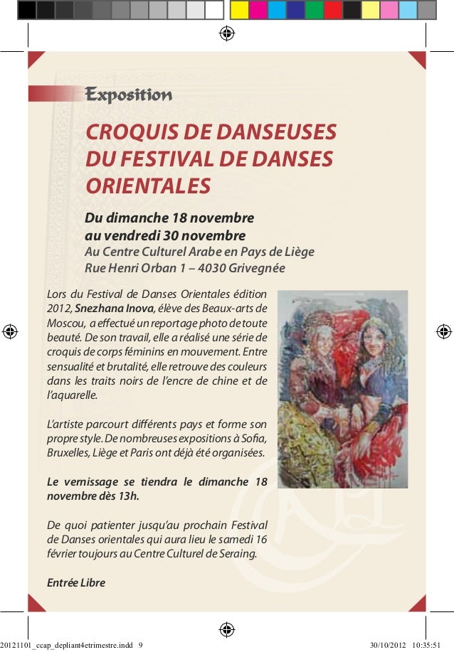 Exposition                       Croquis de danseuses                       du Festival de danses                       or...
