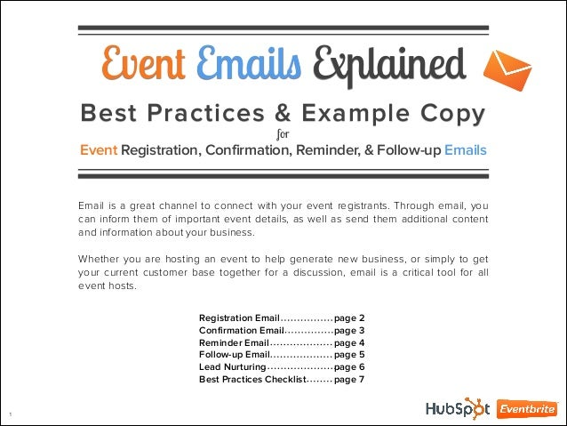 4 event emails explained. Black Bedroom Furniture Sets. Home Design Ideas