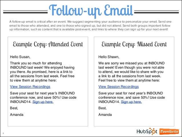 Amanda 4 Example Copy 5 Follow Up Email