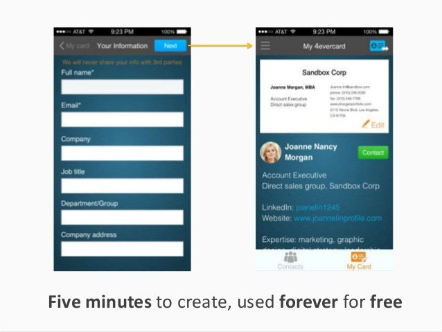4evercard your digital business card five minutes to create used forever for free colourmoves