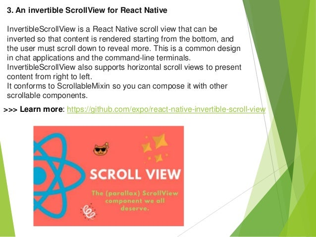 4 examples react native scrollview for beginners