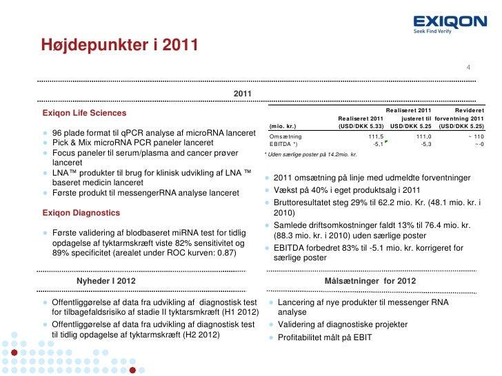 Exiqon kapitalmarkedsdag Proinvestor april 2012