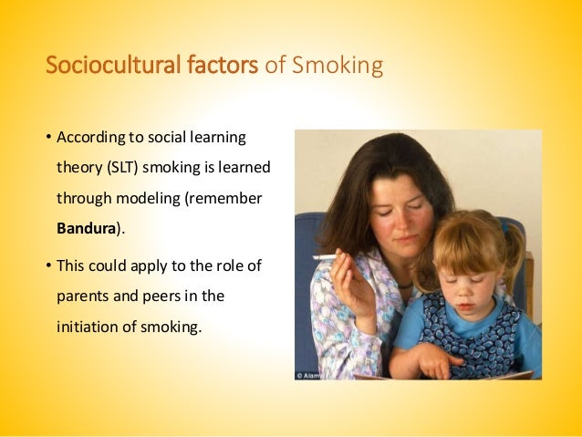 factors of smoking behavior Read chapter 3 factors that influence tobacco use: the health and economic costs of tobacco use in military and veteran populations are high in 2007, the.