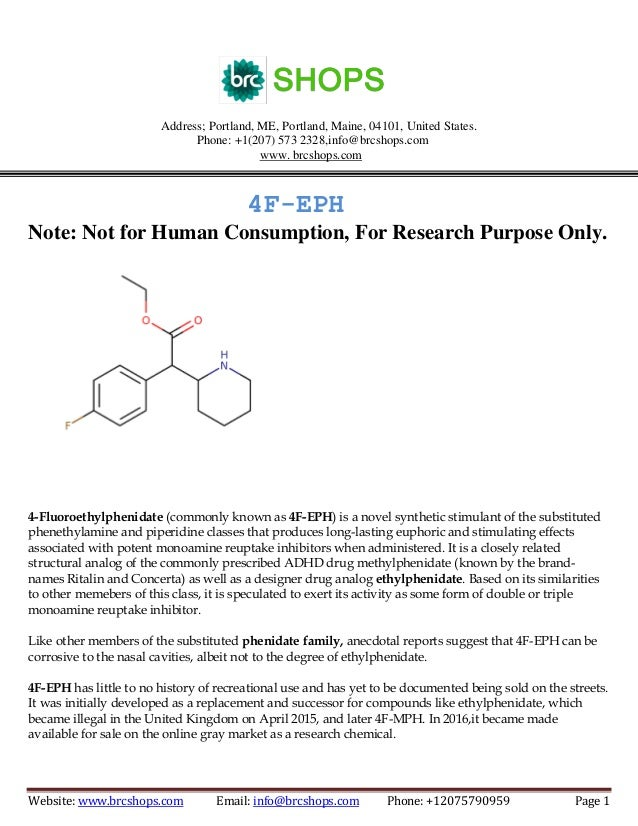 4F-EPH is a synthetic stimulant