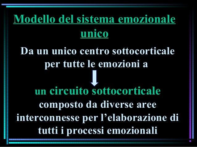 Da un unico centro sottocorticale per tutte le emozioni a un circuito sottocorticale composto da diverse aree interconness...