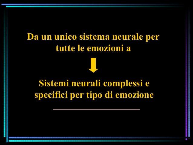 Da un unico sistema neurale per tutte le emozioni a Sistemi neurali complessi e specifici per tipo di emozione