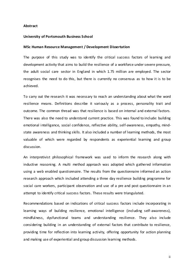 How to write an abstract for your dissertation undergraduate