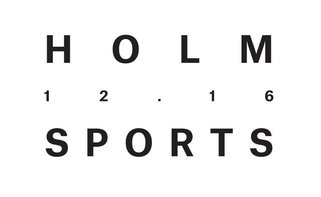 Holm Sports logo black