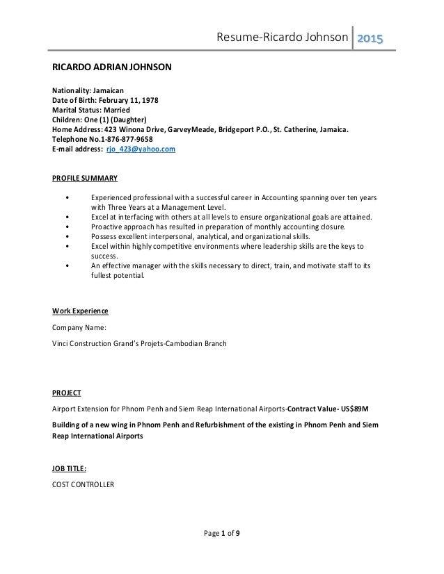 ricardo adrian johnson resume rv sep 2015