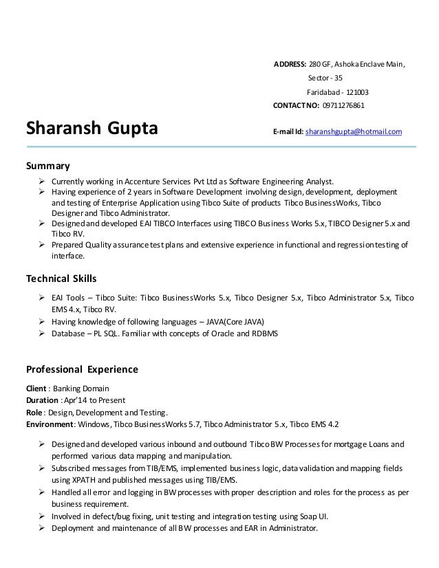 outstanding tibco ems administrator resume sketch example resume