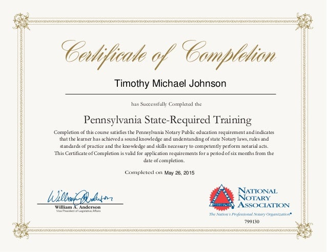 NNA Notary Certification