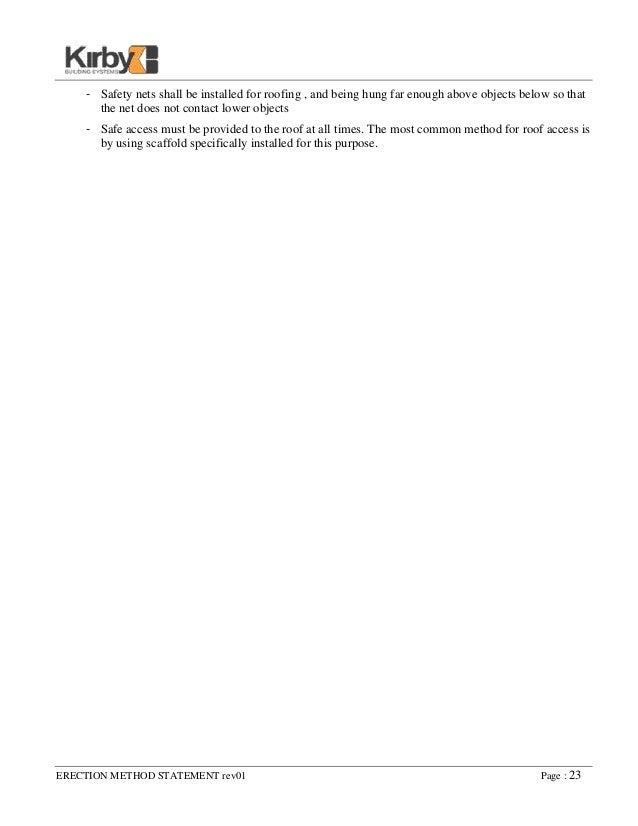 Erection Method Statement