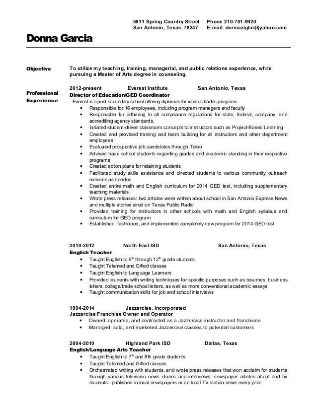 Resume professional