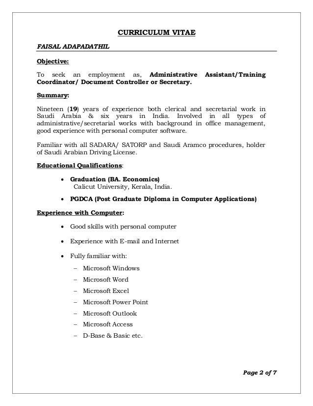 resume faisal adapadathil