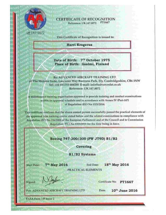 HarriKrogerus_B747-200-300 (JT9D) B1&B2  Practical Certificate.PDF
