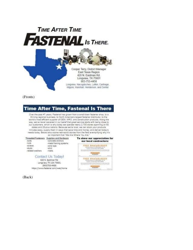 Fastenal advertising plan for Plan b design fabrication inc