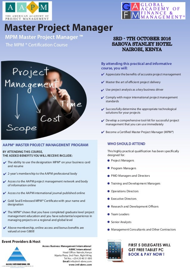 Pages From Master Project Management Mpm Certification Program By