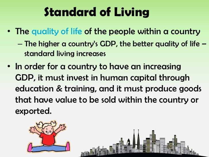 STANDARD OF LIVING ECONOMICS DOWNLOAD