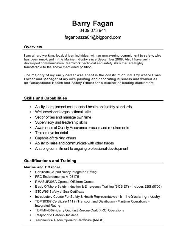 hard working resumes - Occupational Health Nurse Sample Resume