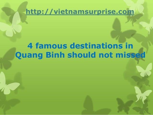 4 famous destinations inQuang Binh should not missedhttp://vietnamsurprise.com
