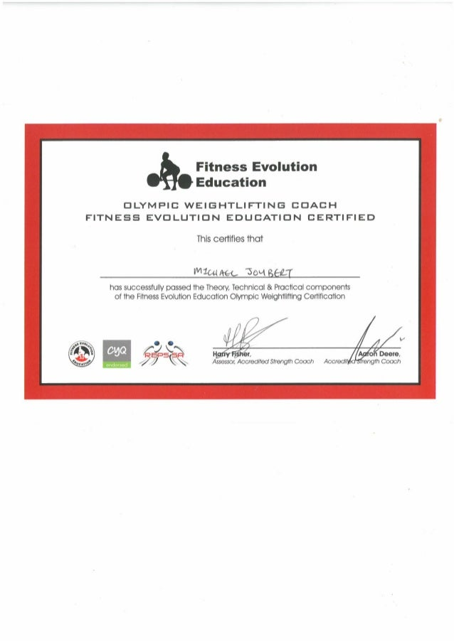 Olympic Weightlifting Coach Certificate