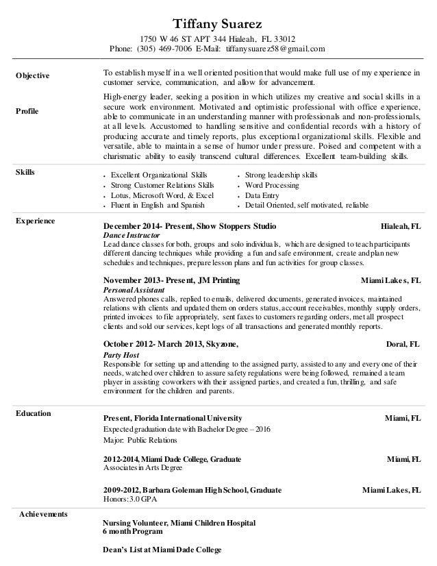 Achievements Nursing Volunteer, Miami Children Hospital 6 Month Program  Deanu0027s List At Miami Dade College  Hospital Volunteer Resume