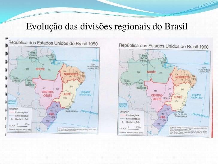 Evolução das divisões regionais do Brasil