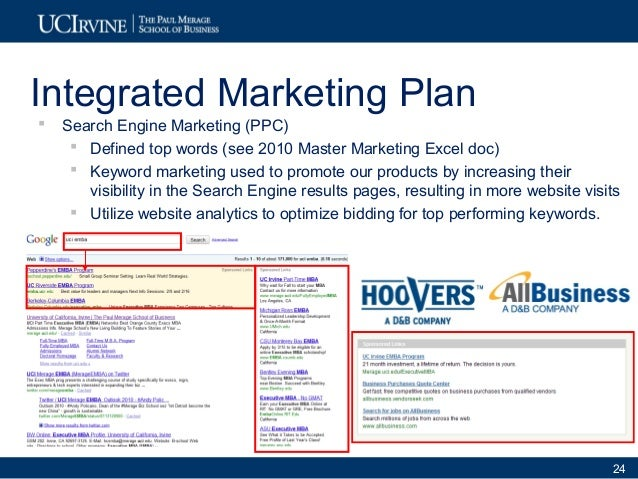 Hoover Marketing Plan