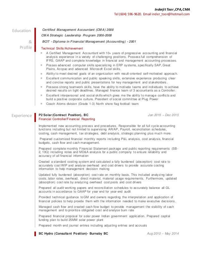 Inderjit Toor - Resume and Cover Letter Linkedin