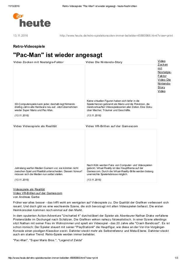 "11/13/2016 RetroVideospiele:""PacMan""istwiederangesagtheuteNachrichten http://www.heute.de/retrospielekonsoleni..."