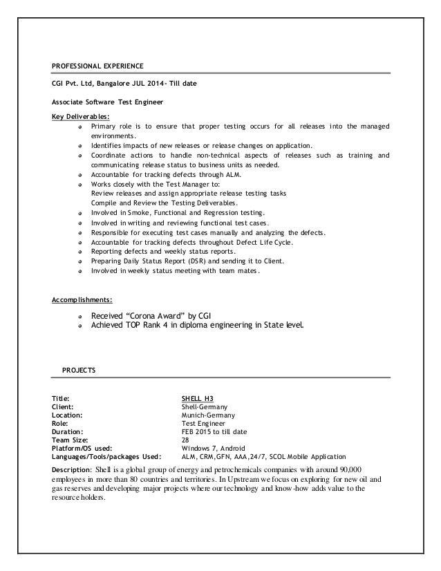 mobile app tester resume mobile application tester resume
