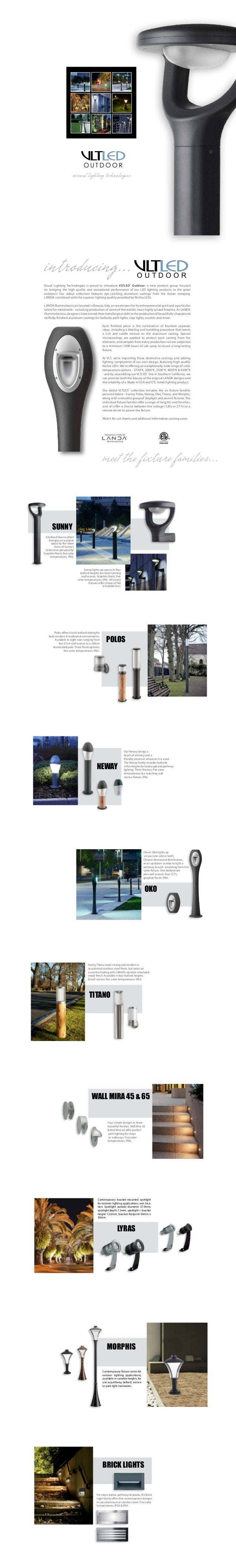 Visual Lighting Technologies Is Proud To Introduce VLTLED® Outdoor, A New  Product Group Focused