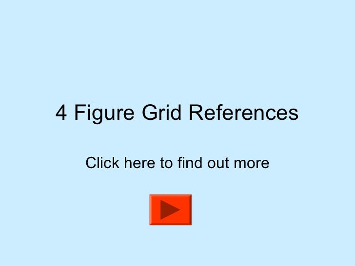 how to use 4 figure grid references