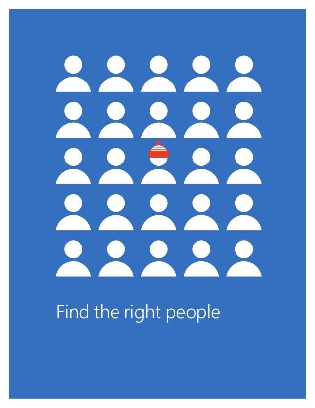 1 Find the right people