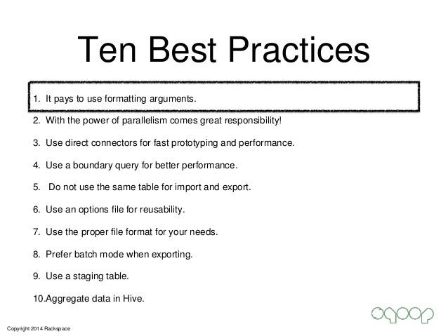 Effective Sqoop: Best Practices, Pitfalls and Lessons Slide 2
