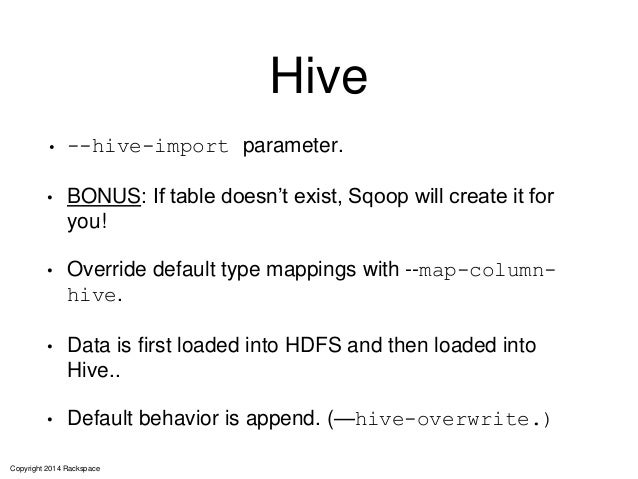 Using the Parquet File Format with Impala, Hive, Pig, and MapReduce