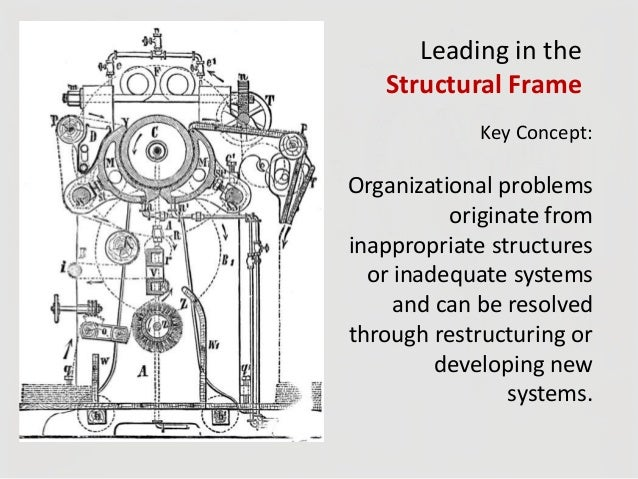structural frame bolman and deal education Leadership models are guides that suggest specific leadership behavior to in the four framework approach, bolman and deal structural framework.