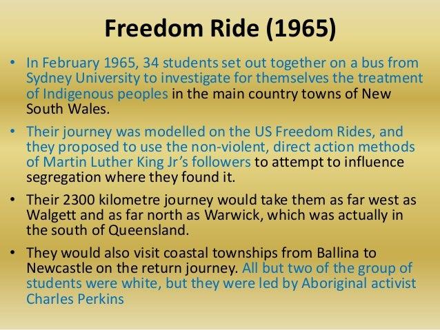 Freedom ride australia essays
