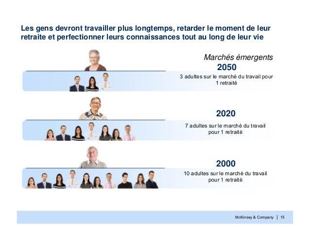 McKinsey & Company | 15Les gens devront travailler plus longtemps, retarder le moment de leurretraite et perfectionner leu...