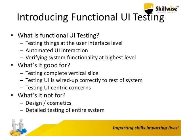 Functional UI Testing