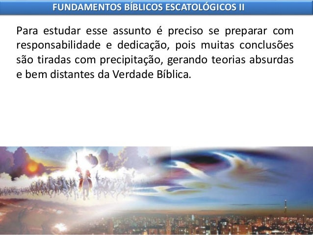 4 fundamentos bíblicos escatológicos ii Slide 3