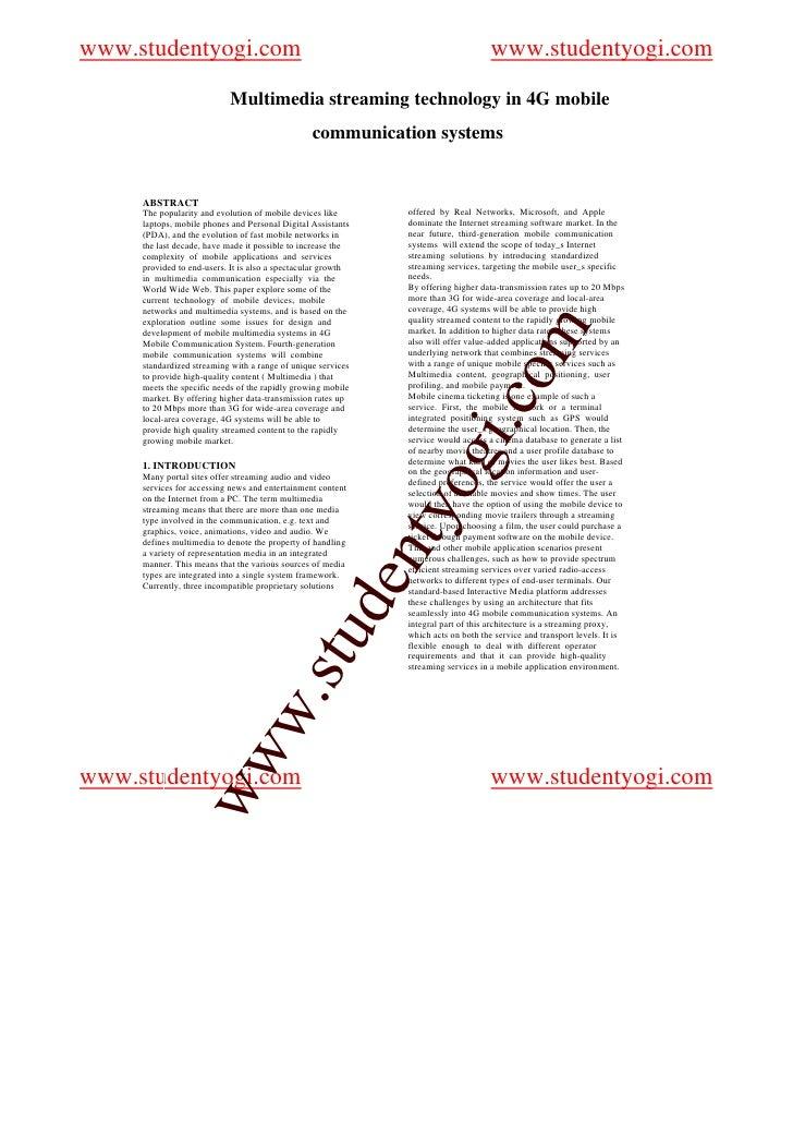 Essay on mobile communication